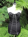 1950's Black stretch nylon elastane bathing costume
